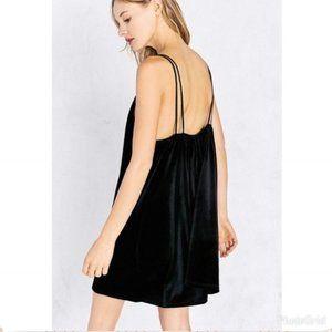 U.O. Kimchi Blue Strappy Velvet Mini Slip Dress SM
